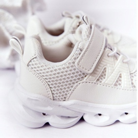 Dziecięce Sneakersy Ze Świecącą Podeszwą Led Białe So Cool! 1