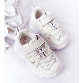 Dziecięce Sneakersy Ze Świecącą Podeszwą Led Białe So Cool! 3