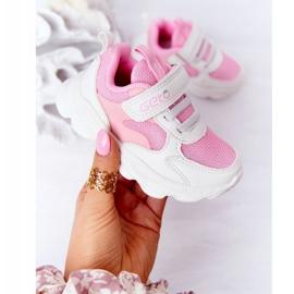 Dziecięce Sportowe Buty Sneakersy Biało-Różowe Sugar białe 3