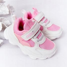 Dziecięce Sportowe Buty Sneakersy Biało-Różowe Sugar białe 2