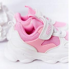 Dziecięce Sportowe Buty Sneakersy Biało-Różowe Sugar białe 1