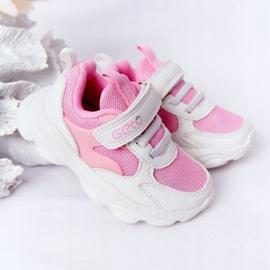 Dziecięce Sportowe Buty Sneakersy Biało-Różowe Sugar białe 4
