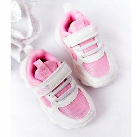 Dziecięce Sportowe Buty Sneakersy Biało-Różowe Sugar białe 5