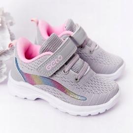 Dziecięce Sportowe Buty Sneakersy Szare Ready Go! różowe wielokolorowe 1