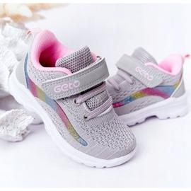 Dziecięce Sportowe Buty Sneakersy Szare Ready Go! różowe wielokolorowe 4