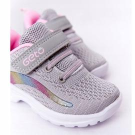 Dziecięce Sportowe Buty Sneakersy Szare Ready Go! różowe wielokolorowe 5