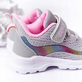 Dziecięce Sportowe Buty Sneakersy Szare Ready Go! różowe wielokolorowe 6