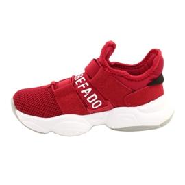 Befado obuwie dziecięce  516X064 białe czerwone 2