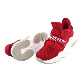 Befado obuwie dziecięce  516X064 białe czerwone 5