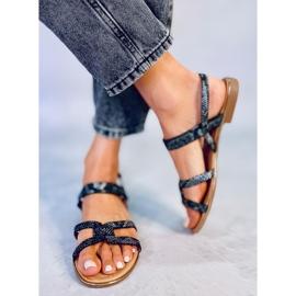 Sandałki damskie czarne H8-176 Black 1