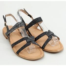 Sandałki damskie czarne H8-176 Black 3