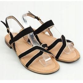 Sandałki damskie czarne H8-177 Black 3