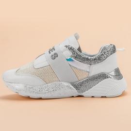 Wsuwane Buty Sportowe VICES białe 3