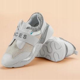 Wsuwane Buty Sportowe VICES białe 6