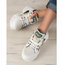Bella Paris Sneakersy Z Siateczką Fashion białe wielokolorowe 1