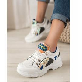Bella Paris Sneakersy Z Siateczką Fashion białe wielokolorowe 2