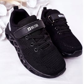 Dziecięce Sportowe Buty Sneakersy Big Star HH374184 Czarne 4