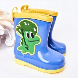 Dziecięce Kalosze Z Krokodylem Niebieskie 2