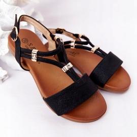 Dziecięce Sandały S.Barski Comfort Czarne 1