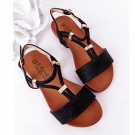 Dziecięce Sandały S.Barski Comfort Czarne 2