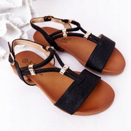 Dziecięce Sandały S.Barski Comfort Czarne 5