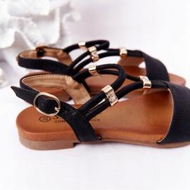 Dziecięce Sandały S.Barski Comfort Czarne 6