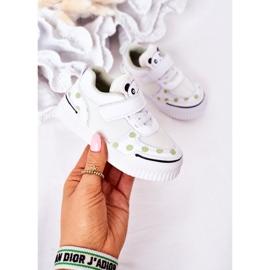 Apawwa Dziecięce Sportowe Buty Z Pandą Biało-Zielone Chico białe 4