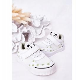 Apawwa Dziecięce Sportowe Buty Z Pandą Biało-Zielone Chico białe 7