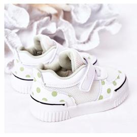 Apawwa Dziecięce Sportowe Buty Z Pandą Biało-Zielone Chico białe 8