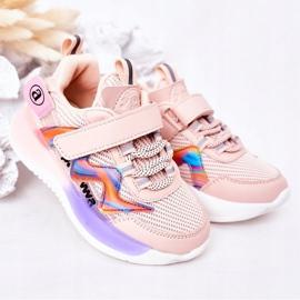 Apawwa Dziecięce Sportowe Buty Sneakersy Różowe Jump Jump wielokolorowe 2
