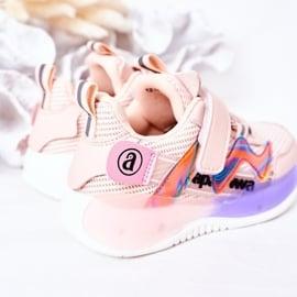 Apawwa Dziecięce Sportowe Buty Sneakersy Różowe Jump Jump wielokolorowe 1