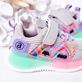 Apawwa Dziecięce Sportowe Buty Sneakersy Szare Jump Jump wielokolorowe 4