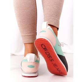 Sportowe Buty Memory Foam Cross Jeans HH2R4049C Zielono-Różowe zielone 5