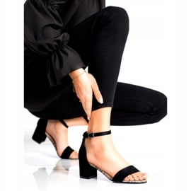 Sandały na niskim słupku Sergio Leone SK839 beżowy brązowe czarne 1