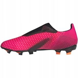 Buty piłkarskie adidas X Ghosted.3 Ll Fg FW6968 różowe różowe 2