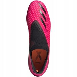 Buty piłkarskie adidas X Ghosted.3 Ll Fg FW6968 różowe różowe 1