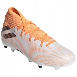 Buty piłkarskie adidas Nemeziz.3 Fg M FW7350 pomarańczowy ,biały białe 3