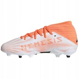 Buty piłkarskie adidas Nemeziz.3 Fg Jr FW7356 wielokolorowe białe 1