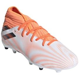 Buty piłkarskie adidas Nemeziz.3 Fg Jr FW7356 wielokolorowe białe 3