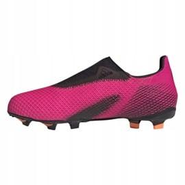 Buty piłkarskie adidas X Ghosted.3 Ll Fg Jr FY7281 różowe różowe 1