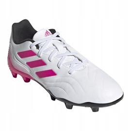 Buty piłkarskie adidas Copa Sense.3 Fg Jr FX1986 granatowy, biały, różowy białe 3