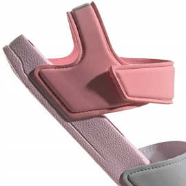 Sandały dla dzieci adidas Adilette Sandal K szaro-różowe FY8849 6