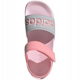 Sandały dla dzieci adidas Adilette Sandal K szaro-różowe FY8849 2