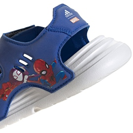 Sandały dla dzieci adidas Swim Sandal I niebieskie FY8958 5