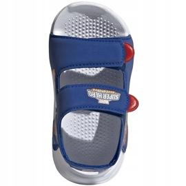 Sandały dla dzieci adidas Swim Sandal I niebieskie FY8958 2