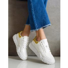 Small Swan Białe Sneakersy Z Eko Skóry 2
