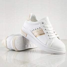 SHELOVET Casualowe Sneakersy białe złoty 1