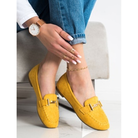 Anesia Paris Eleganckie Mokasyny żółte 2
