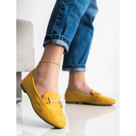 Anesia Paris Eleganckie Mokasyny żółte 3