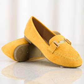 Anesia Paris Eleganckie Mokasyny żółte 1